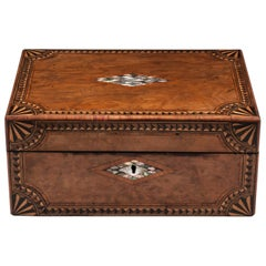 Antique Tunbridge Jewelry Box, 19th Century