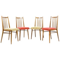 Set of Four Vintage Dining Chairs, Czechoslovakia, 1970s
