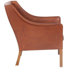 Borge Mogensen Leather Chair Made by Johannes Hansen, circa 1960s