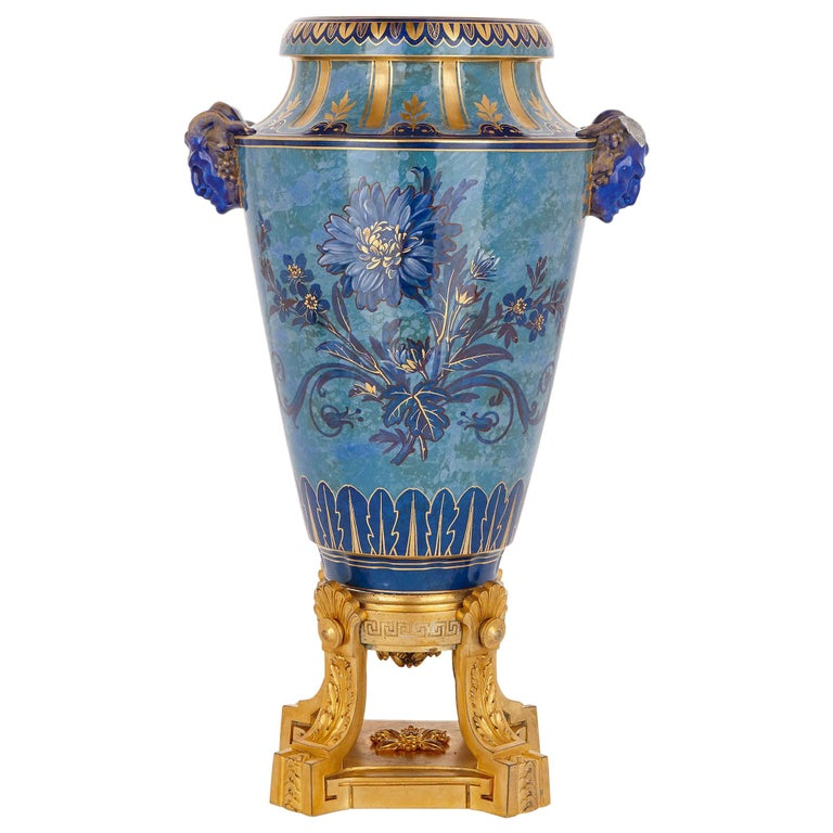 Sèvres porcelain urn, 1875, offered by Mayfair Gallery