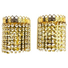Pair of Crystal Raindrops Sconces by Richard Essig, Germany, 1960s