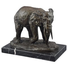 """Elephant"", Bronze, after Models from Milo"