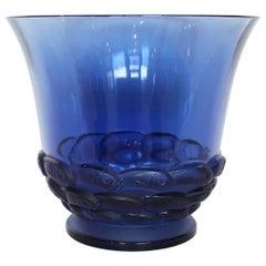 Lalique Blue Monaco Vase