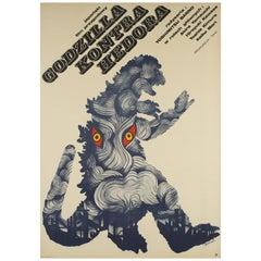 Godzilla Vs. Hedorah Polish Film Poster, Zygmunt Bobrowski, 1973
