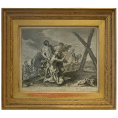 18th Century Engraving Crucifixion of St. Andrew