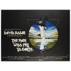 """""""The Man Who Fell to Earth"""" UK Film Poster, 1976"""