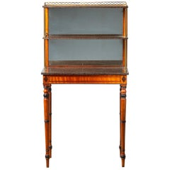 George III Satinwood and Simulated Porphyry Side Table, circa 1790-1810