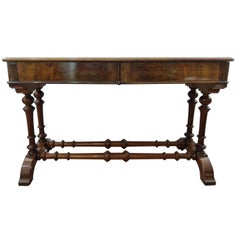 19th Century Regency Walnut Root English Writing Desk