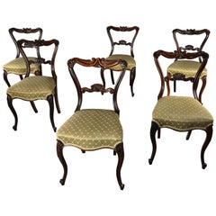 Fine Quality Early to Mid-19th Century Set of Six Rosewood Dining Chairs