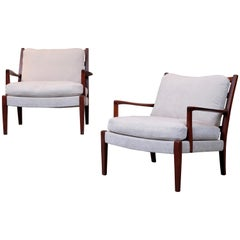 "Pair of Arne Norell Easy Chairs Model ""Löven"", 1960s"