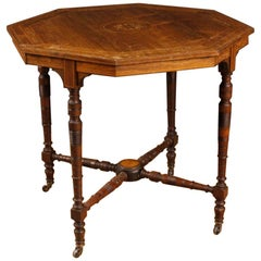 20th Century in Mahogany, Maple, Palisander and Fruitwood English Side Table