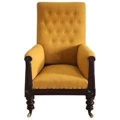 19th Century English William IV Library Armchair