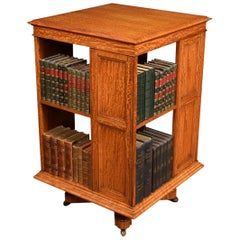 Satinwood Revolving Bookcase