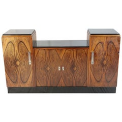 Art Deco Period Sideboard, 1930, France, Walnut Veneered