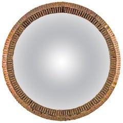 """Linie Vautrin Französisch Konvexe Spiegel """"Couronne"""" Gold Bronze Orginale Spiegel"""