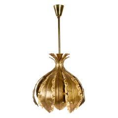 1960s Holm Sørensen Brutalist Brass Pendant