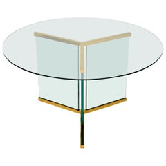 1970s Vintage Glass Dining Table by Leon Rosen for Pace Collection