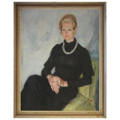 Oil on Canvas Portrait of a Society Lady