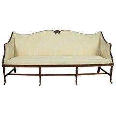 Mahogany Regency Style Three-Seat Settee