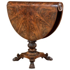 Regency Flame Mahogany Drop-Leaf Occasional Table