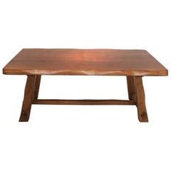 Olavi Hanninen's Dinning Table in Solid Elm and Edited by Mikko Nupponen in 1958