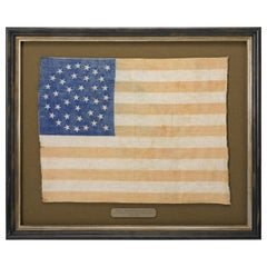 38-Star Medallion Pattern American Flag with Two Outliers, circa 1876
