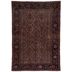 Early 20th Century Antique Malayer Carpet