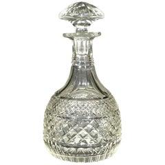 Fine Regency Period Anglo-Irish Cut Glass Magnum Decanter, Circa 1825