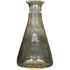 A Very Good Glass Wine Carafe with British Royal Family Association, Circa 1925