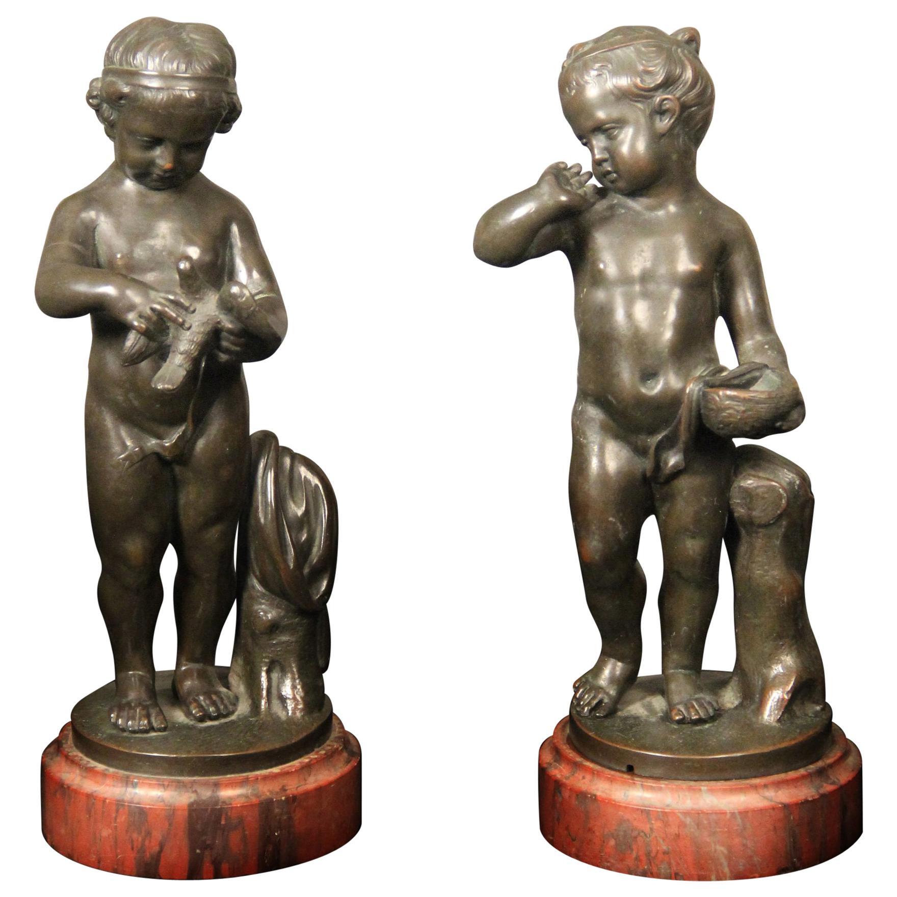 Pair of Late 19th Century Bronze Figurative Sculptures