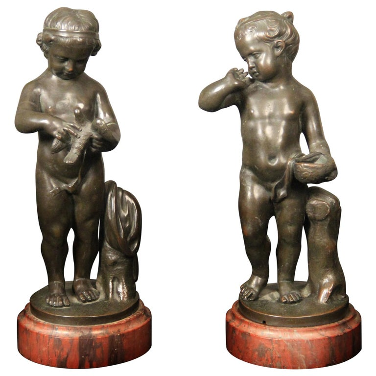Pair of Late 19th Century Bronze Figurative Sculptures For Sale