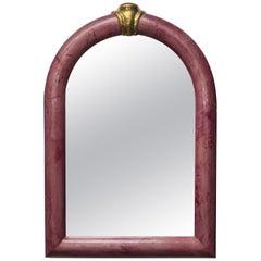 Rare Goatskin Mirror by Aldo Tura