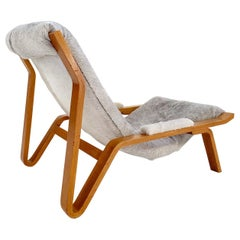 Harvey Probber Suspension Chair Restored in Brazilian Cowhide