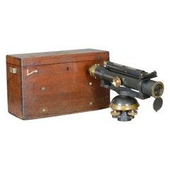 Vintage Theodolite in Case, Scientific Instrument, Surveying, John Davis and Son