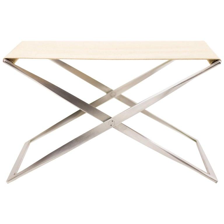 Poul Kjærholm PK 91 Folding Stool For Sale