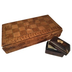Leather Game Board and Card Box