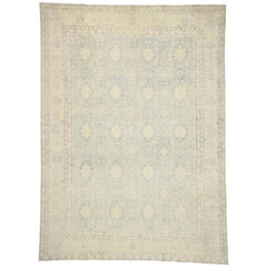 New Transitional Khotan Rug with Colonial Revival Style, Cozy Cottage Vibes