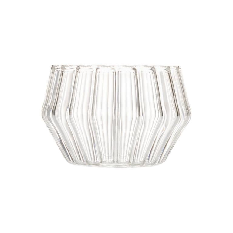 Czech Clear Contemporary Handmade Mixed Small Jewelry Bowl, in Stock For Sale