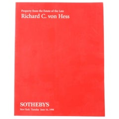 Sotheby's; Property from the Estate of the Late Richard C. Von Hess