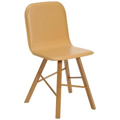 Tria Simple Chair Natural Leather Upholstered Seat by Colé, Minimalist