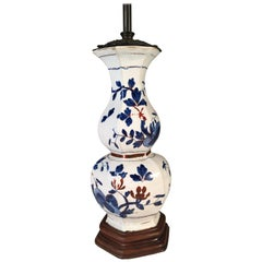 Asian Style Double Gourd Form Porcelain Table Lamp