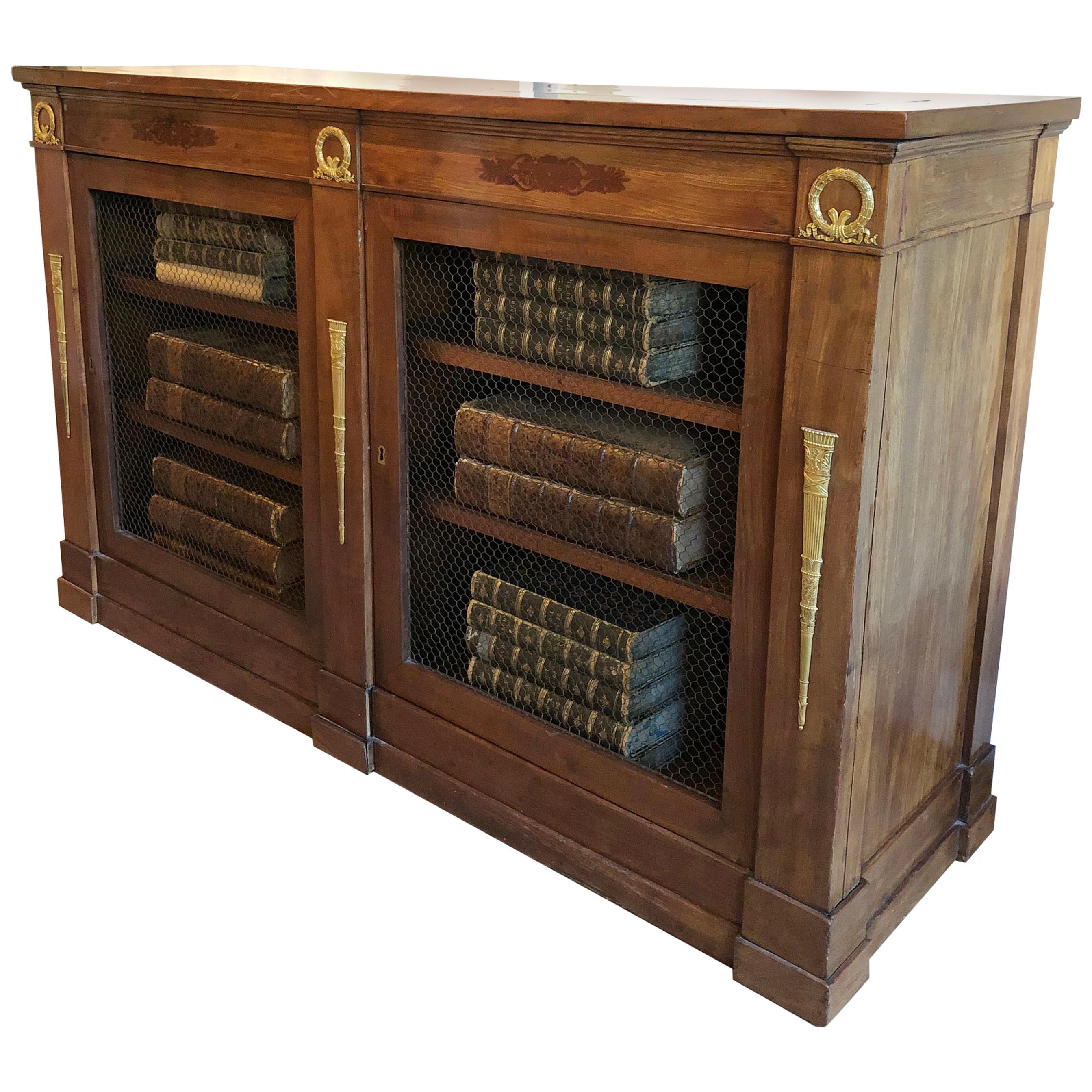 Empire Mahogany Bookcase