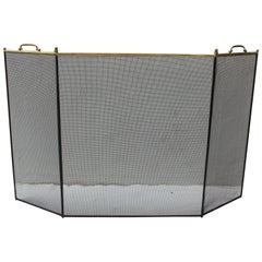 Brass and Metal Fireplace Screen