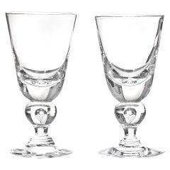 12 Exceptional Modernist Steuben Baluster Water Goblets