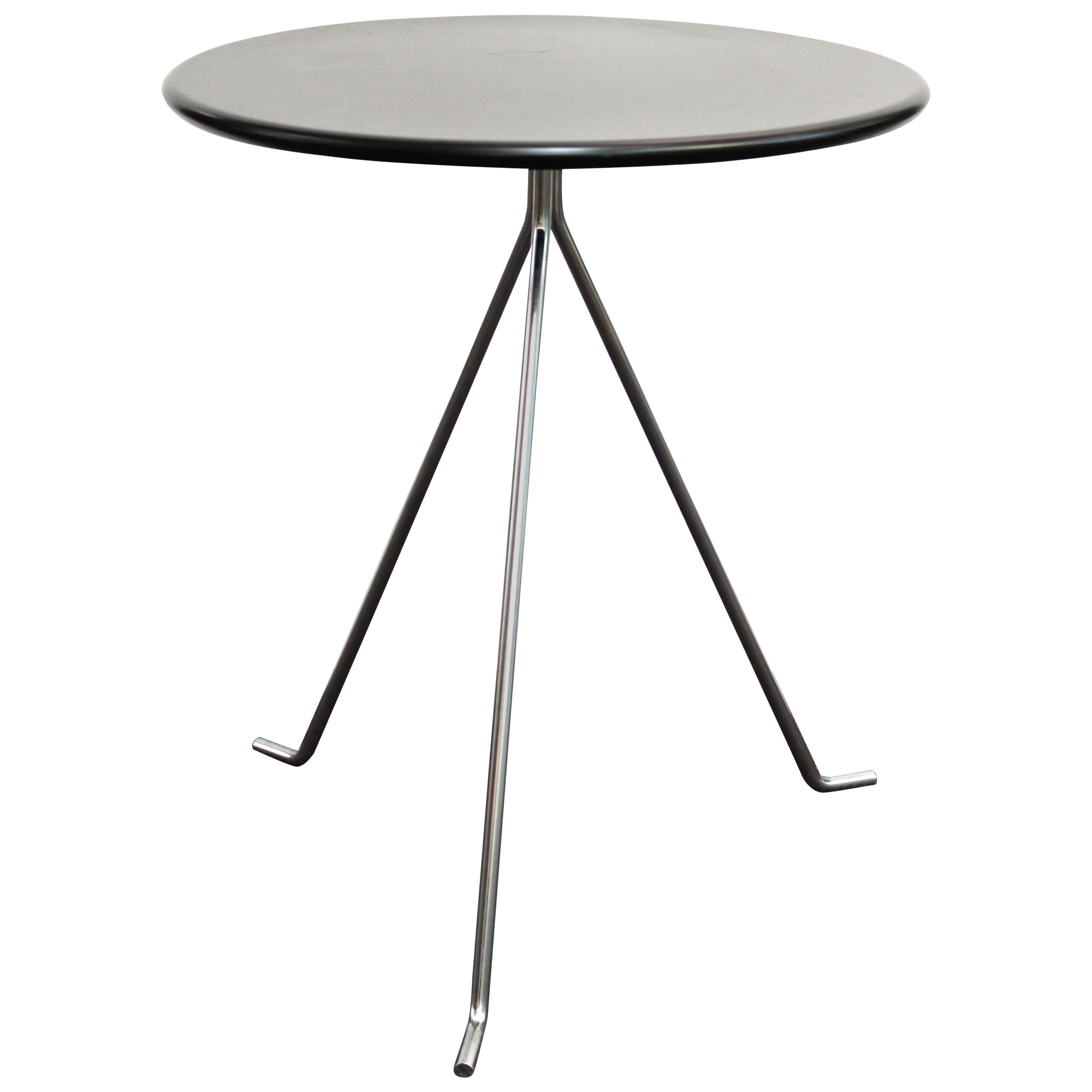 2b danish modern round metal side table for sale at 1stdibs