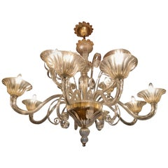 Murano Chandelier by Seguso, 12-Arms, Murano, 1980s