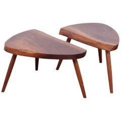 Pair of George Nakashima Wepman Tables / Stools