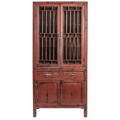 Chinese Lattice Door Cabinet