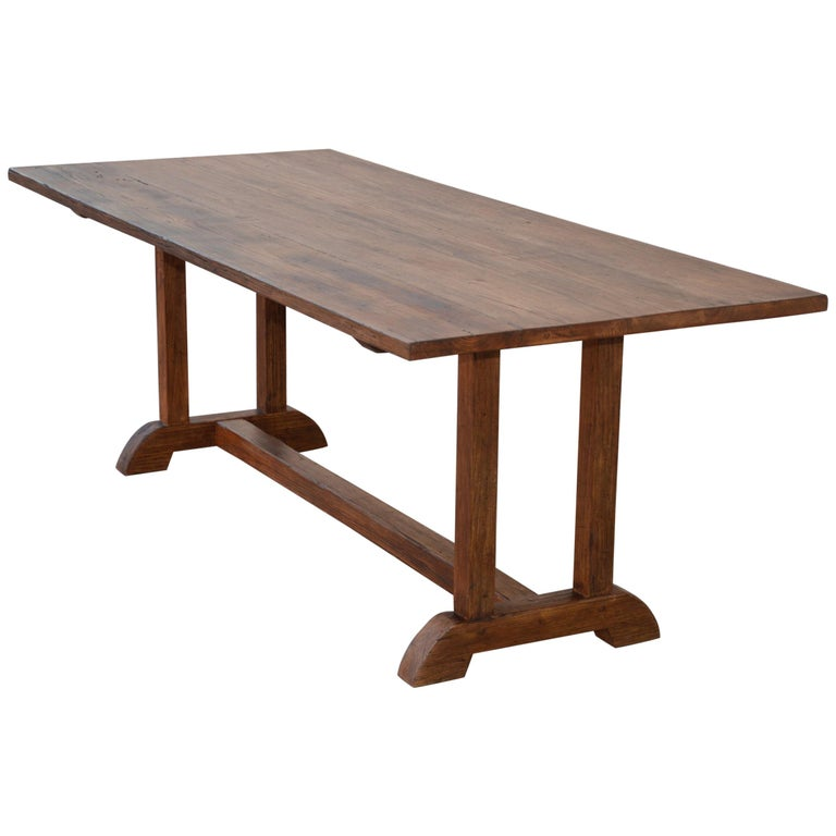 Awesome Dining Table Made From Vintage Heart Pine Built To Order By Petersen Antiques Interior Design Ideas Lukepblogthenellocom