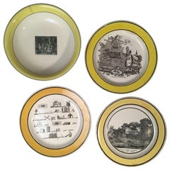 Collection of 4 Misc. Creil Pictorial Plates